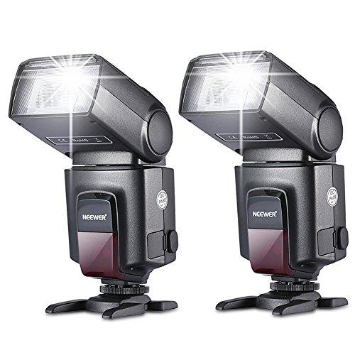 Neewer®TT560 Zwei Blitzgerät Blitz Speedlite Set für Canon Nikon...