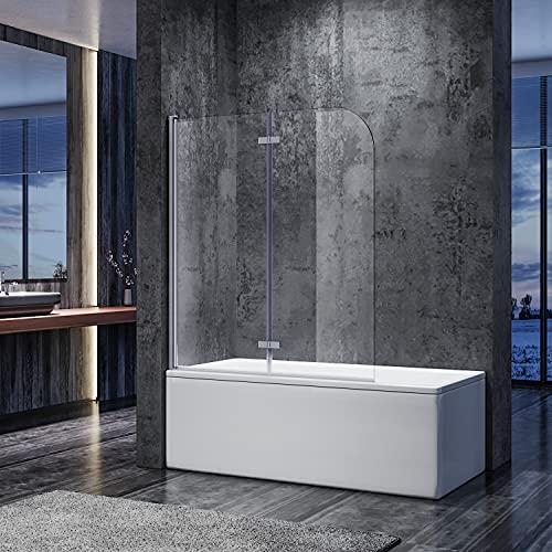 SONNI Duschwand für Badewanne 120x140 cm(BxH) badewannenfaltwand...