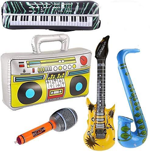 Yojoloin 5 STÜCKE Inflatables Gitarre Saxophon Mikrofon Boom Box...