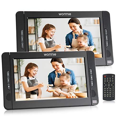 WONNIE 10.1 Zoll Auto DVD Player 2 Monitore Auto Tragbarer DVD Player...