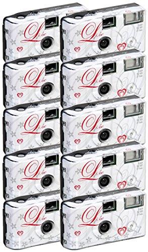 10x allMedia Liebe/Love Hochzeitskamera/Einwegkamera/Partykamera mit...