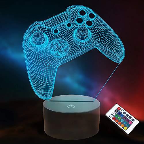 3D Gamepad Nachtlicht, Lightzz Game Console Illusionslampe mit...