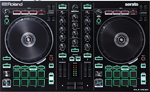 Roland DJ-202 DJ Controller, 2-Kanal-Controller für Serato Intro mit...