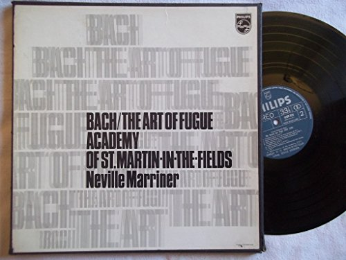 6747 172 Bach The Art of Fugue Academy St Martin Neville Marriner 2 LP...