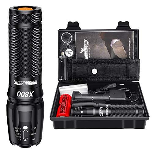 Shadowhawk X800 Led Taschenlampe, Super Helle 3000 Lumen...