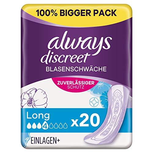 Always Discreet Inkontinenzeinlagen Long (20 Binden) Big Pack,...