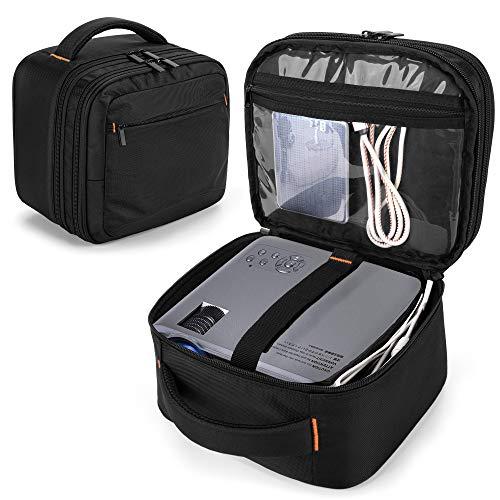 CURMIO Doppelschicht Beamertasche für Mini Beamer, Projektor Tasche...