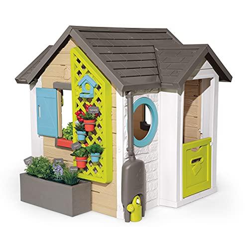 Smoby - Gartenhaus - Spielhaus für drinnen und draußen, mit kleiner...