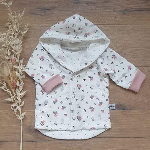 Wende Jacke - Cremeweiss Blüten/Rose Punkte (Rose) - Baby Mädchen