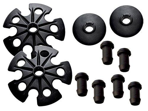 TEHNOMAT Universalsatz mit Nippeln Teller, Schwarz, Uni