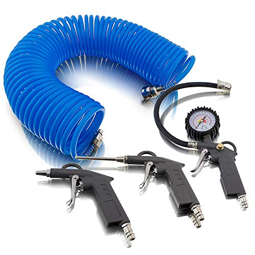 BITUXX® 4 teiliges tlg Druckluftset Zubehör Set für Kompressor...