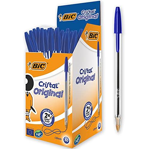 BIC Kugelschreiber Cristal Original, in Blau, Strichstärke 0,4 mm,...