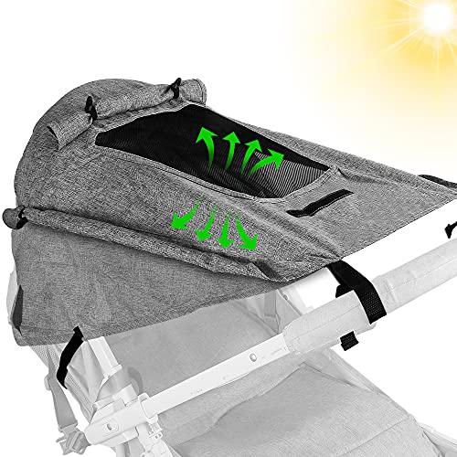 Sonnensegel Kinderwagen,Sonnenschutz für Kinderwagen UV-Schutz für...