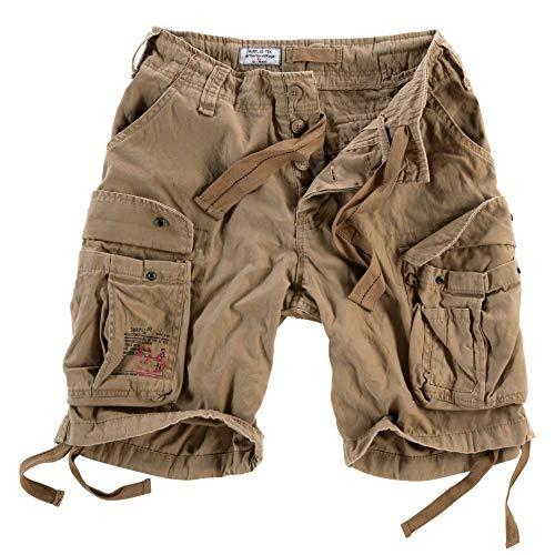 Surplus Raw Vintage Airborne Vintage Herren Cargo Shorts, beige, L