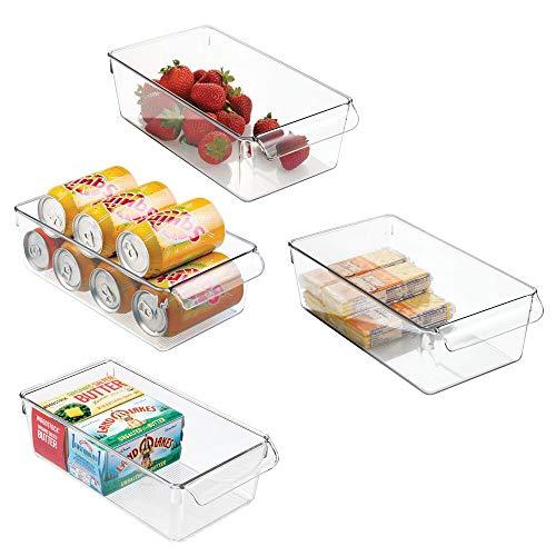 mDesign Aufbewahrungsbox groß mit Griff – ideal zur Küchen Ablage,...