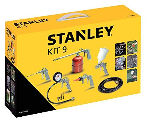 Stanley 1884 Multi-Druckluft-Zubehör Kit 9 mit Reifenfüller,...
