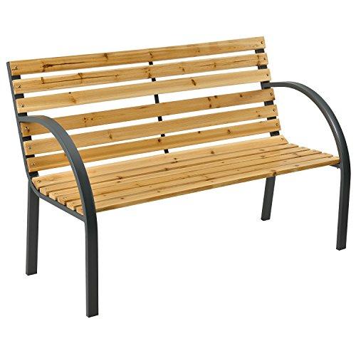 ArtLife Gartenbank Modena – 2-Sitzer Holzbank mit Armlehnen &...