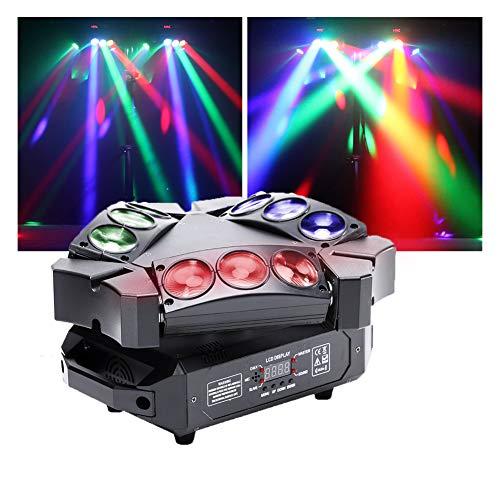 U'King Mini 9 Head Bird Disco-Licht 60W RGB Mini Spinne Bühne Beam...
