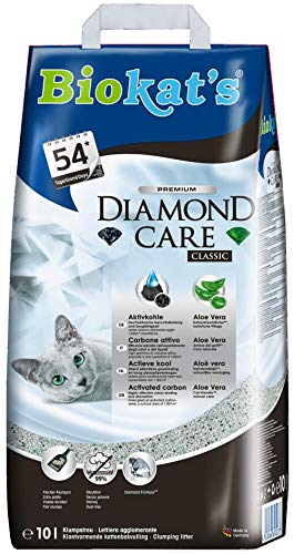 Biokat's Diamond Care Classic ohne Duft - Feine Katzenstreu mit...