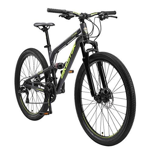 BIKESTAR Fully Aluminium Mountainbike Shimano 21 Gang Schaltung,...