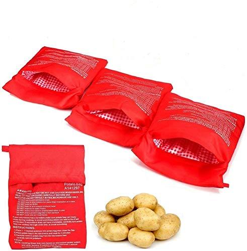 BESTZY 4Stück Mikrowellen Kartoffelbeutel, Wiederverwendbarer...