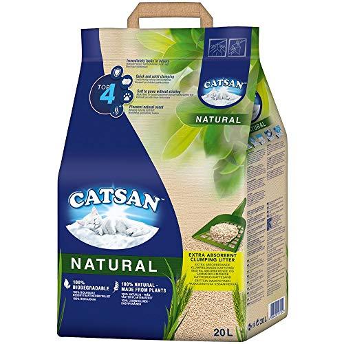 CATSAN Natural – Kompostierbare Klumpstreu für Katzen aus 100%...