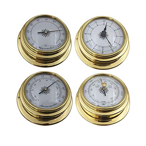 YIAI Wetterstation Set 4pcs Wand Barometer Uhr Tragbares Messgerät...