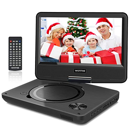 WONNIE 9.5' Tragbarer DVD-Player drehbares HD Display 4 Stunden Akku,...