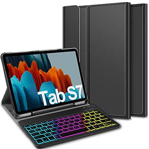 ELTD Tastatur Hülle für Samsung Galaxy Tab S7 (Deutsches QWERTZ),...