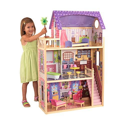 KidKraft 65092 Puppenhaus Kayla aus Holz mit Möbeln und Zubehör,...