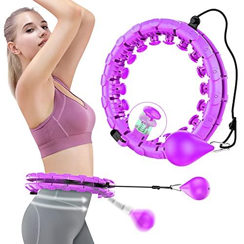 HebyTinco Hula Hoop Reifen Erwachsene, 2-in-1 Fitness und Massage...