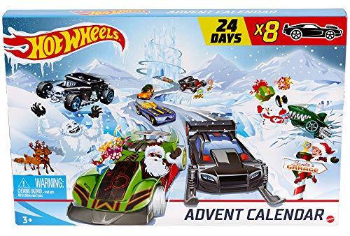 Hot-Wheels GJK02 - Adventskalender 2020 mit Spielzeug für 24 Tage,...