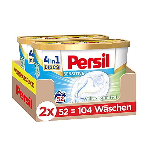 Persil Sensitive 4in1 DISCS (104 Waschladungen), ECARF-zertifiziertes...