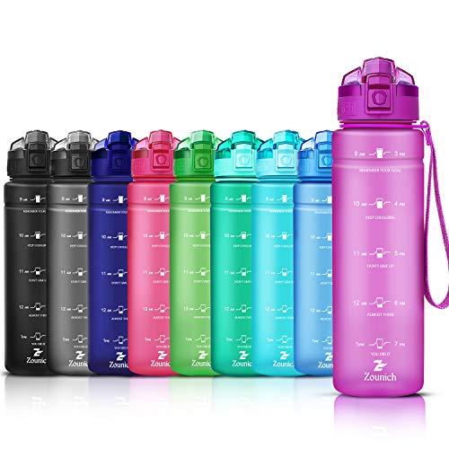 ZOUNICH Trinkflasche Kinder Auslaufsichere 1.2L/1L/700ml/500ml-BPA...