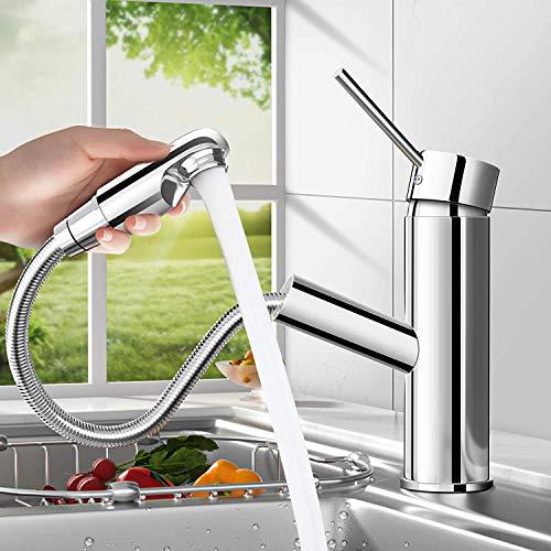 bedee Chrom Wasserhahn Küche Armatur Spültischarmatur mit...