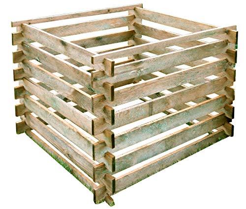Gartenpirat Komposter 90x90 cm mit Stecksystem aus Holz...