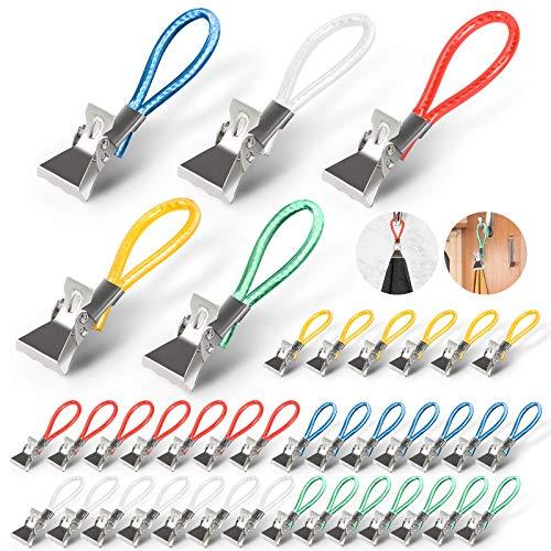 tEEZErshop Handtuchhalter Clips 40 Stück, 5 Farben Handtuchclip...
