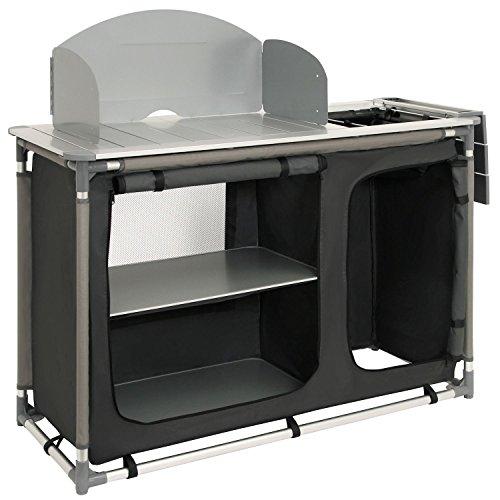 CampFeuer - Campingschrank, Campingküche mit Aluminiumgestell,...