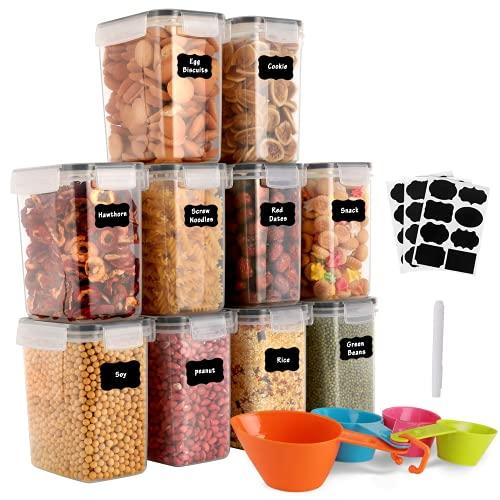 GoMaihe 1.6L Vorratsdosen 10 Set, Aufbewahrungsbox Küche Luftdicht...