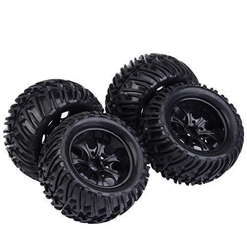 Dilwe RC Auto Reifen, 4 Stück Y-förmigen Muster Reifen Gummireifen...