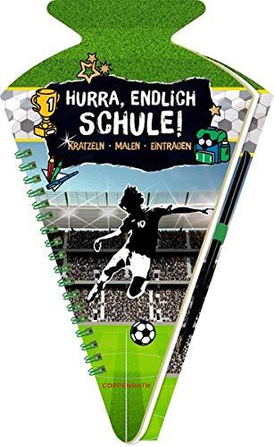 Schultüten-Kratzelbuch - Fußball - Hurra, endlich Schule!: Kratzeln,...