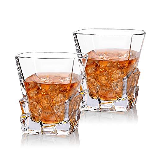 Cooko Iceberg Whisky Gläser, Kristallglas Whiskey karaffe, Wein...