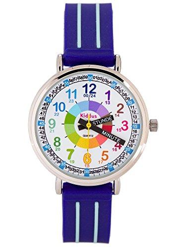 KIDDUS Lern Armbanduhr für Kinder, Jungen und Mädchen. Analoge...