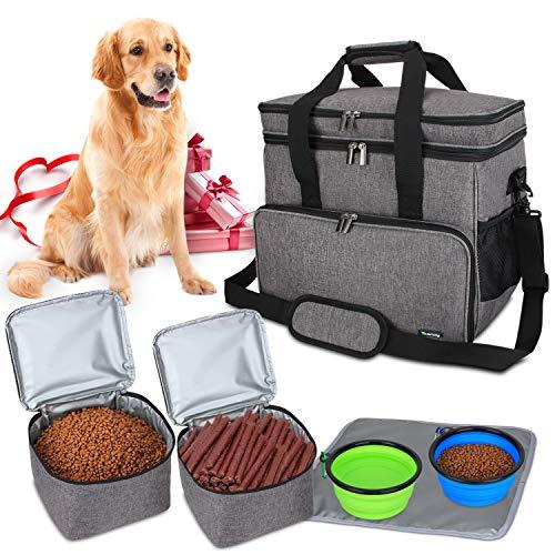 Teamoy Reisetasche für Hundeausrüstung, Hundetasche für die...