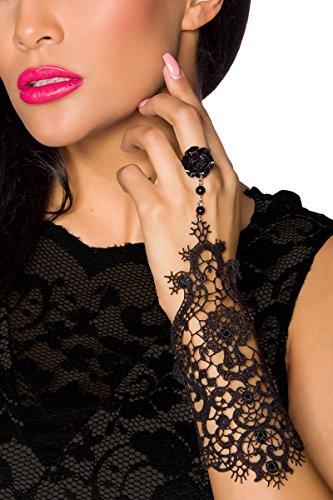 Gothik Handstulpe 1 Stück mit Spitze One Size (Einheitsgröße)