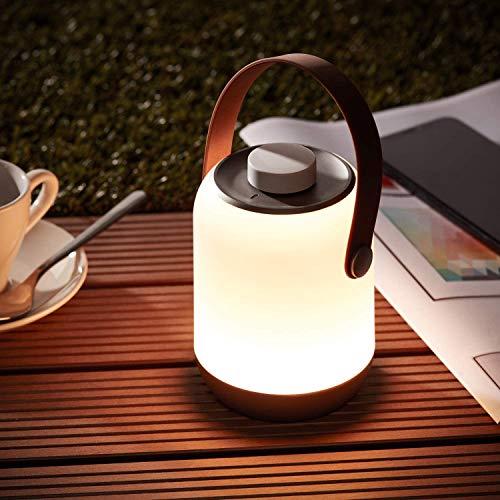 Lightbox Akku Outdoor Lampe - kabellose LED Tischlampe, dimmbar, mit...