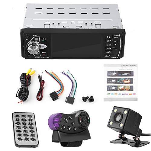 Tbest Autoradio Player mit Rückfahrkamera, 4,1 Zoll HD Bluetooth...