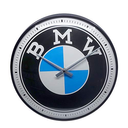 Nostalgic-Art Retro Wanduhr BMW – Logo – Geschenk-Idee für Auto...