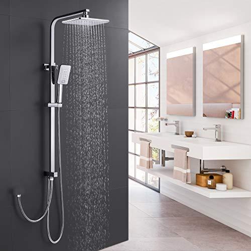 Duschset Duschsystem ohne Armatur, WOOHSE Duscharmatur Regendusche mit...