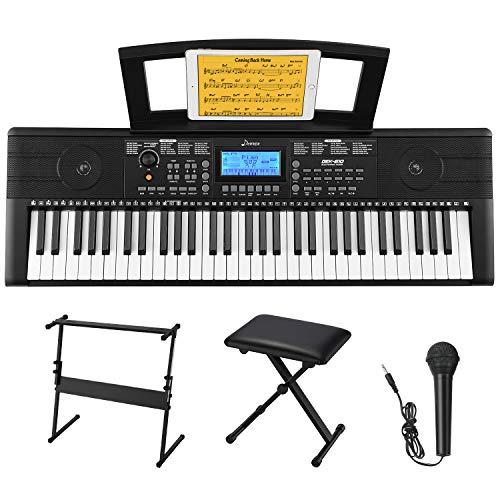 Donner 61 Tasten Tastatur Klavier Kit, Electronic Keyboard Digital...